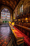 Cathedral Window Prints - Church Lamps Print by Adrian Evans