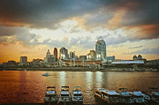 Cincinnati Cincinnati Reds Prints - Cincinnati Ohio III Print by Scott Meyer