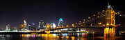 Ohio Prints - Cincinnati Ohio  Skyline Print by Twenty Two North Photography