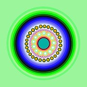 Colorful Art Digital Art - Circle Motif 126 by John F Metcalf