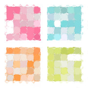 Decorator Series Prints - Circles and Squares 22. Modern Abstract Fine Art Print by Mark Lawrence