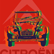2cv Digital Art - Citroen 2CV by Jean luc Comperat