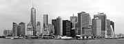 Manhattan Prints - City - NY - The financial district Print by Mike Savad