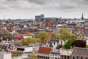 Rooftop Framed Prints - City of Amsterdam from Above Framed Print by Artur Bogacki