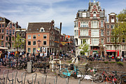 City Canal Prints - City of Amsterdam in Netherlands Print by Artur Bogacki