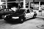 Cop Car Prints - City Of Florida City Police Patrol Squad Car Usa Print by Joe Fox