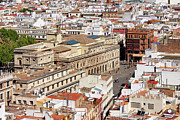Rooftop Photos - City of Seville Cityscape in Spain by Artur Bogacki