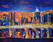 City Scape Paintings - City Scape by Betty Dobbin