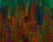 Urban Buildings Digital Art Prints - Cityscape 5 Print by Jack Zulli