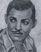 Featured Drawings - Clark Gable by Bobby Dar