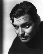Movies Photo Framed Prints - Clark Gable Framed Print by Sanely Great