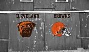 National Football League Framed Prints - Cleveland Browns Framed Print by Dan Sproul