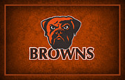 Browns Framed Prints - Cleveland Browns Framed Print by Joe Hamilton
