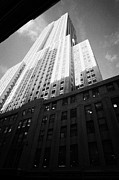 Manhatten Prints - Close In Shot Of The Empire State Building New York City Print by Joe Fox