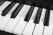 Classic Audio Player Photos - Close up view of piano keys by David Herraez