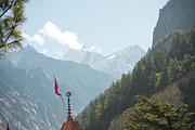 Ganga Photos - Cloud in mountains valley by Raimond Klavins