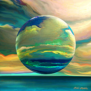 Surreal Art Prints - Clouding the Poets Eye Print by Robin Moline