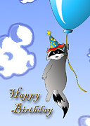 Jeanette K - Clown Raccoon with Balloon