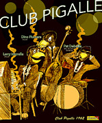 Comic Books Drawings Posters - Club Pigalle  Poster by Jazzboy