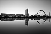 River Clyde Glasgow Framed Prints - Clyde Arc Framed Print by John Farnan