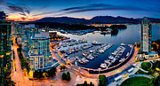 Blue Hour Framed Prints - Coal Harbour in Vancouver Framed Print by Alexis Birkill