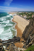 Climbing Metal Prints - Coastal Cliffs Metal Print by Carlos Caetano
