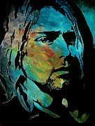 Lead Singer Painting Originals - Cobain by Jeremy Moore