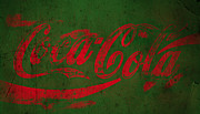 Coca-cola Sign Art - Coca Cola Grunge Red Green by John Stephens