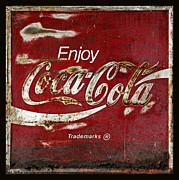 Coca Cola Grunge Sign Print by John Stephens