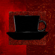 Red Cup Coffee Posters - Coffee Passion Poster by Lourry Legarde