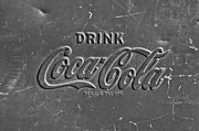 Coke Black Posters - Coke Sign Poster by Jill Reger