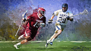 Scott Melby Framed Prints - Colgate Lacrosse Framed Print by Scott Melby
