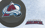 Puck Framed Prints - Colorado Avalanche Framed Print by Joe Hamilton