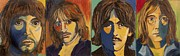 George Harrison Paintings - Colorful Beatles by Jeanne Forsythe