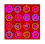 Sandy Bumblebee Metal Prints - Colorful Circles 4 Metal Print by Sandy Bumblebee