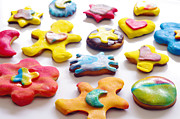 Christmas Star Posters - Colorful Cookies Poster by Carlos Caetano