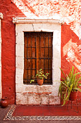 Catherine Window Prints - Colorful old architecture details Print by Yaromir Mlynski
