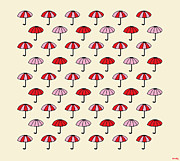 Sandy Bumblebee Metal Prints - Colorful Umbrellas Metal Print by Sandy Bumblebee