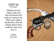 Colt 45 Prints - Colt 45 Peacemaker 1 Of 8 Print by Thomas McClure
