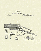 Weapon Drawings Framed Prints - Colt Firearm 1839 Patent Art Framed Print by Prior Art Design