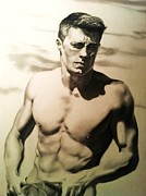 Carl Baker Art - Colton Haynes by Carl Baker