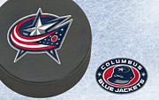 Jackets Posters - Columbus Blue Jackets Poster by Joe Hamilton