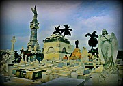Tombs Digital Art - Columbus Cemetary Havana by John Malone