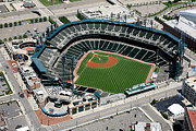 Baseball Stadiums Prints - Comerica Park Detroit Print by Bill Cobb