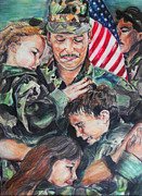 Army Paintings - Coming Home by Melanie Alcantara Correia