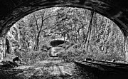 Tunnels Framed Prints - Coming Out BW Framed Print by JC Findley