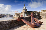 Medieval Framed Prints - Concarneau Brittany France Framed Print by Colin and Linda McKie