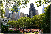 Bryant Photo Framed Prints - Concert at Bryant Park Framed Print by Dora Sofia Caputo