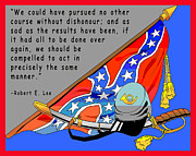 Confederate Flag Digital Art Prints - Confederate States Of America Robert E Lee Print by Digital Creation