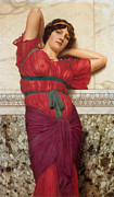John Digital Art - Contemplation by John William Godward